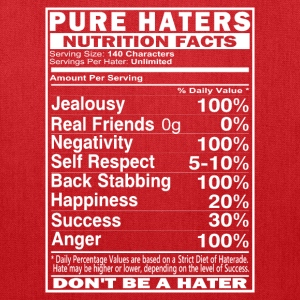 Pure Haters Facts Bags & backpacks - Tote Bag