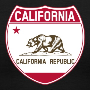 California Flag Highway Tee - Women's V-Neck T-Shirt