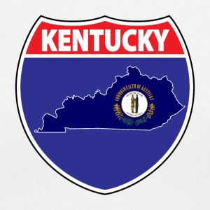 Kentucky Flag Hwy Sign tee - Women's V-Neck T-Shirt