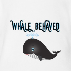 WHALE BEHAVED - Short Sleeve Baby Bodysuit
