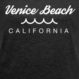 Venice Beach Tshirt for Women - Women´s Rolled Sleeve Boxy T-Shirt