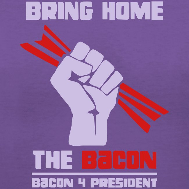 Bring Home The Bacon Solidarity Ladies V-Neck Tee