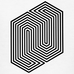Optical Illusion (Impossible Minimal B & W Lines) Kids' Shirts - Kids' T-Shirt