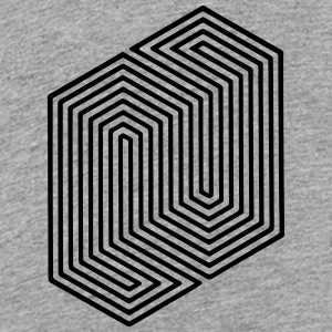 Optical Illusion (Impossible Minimal B & W Lines) Kids' Shirts - Kids' Premium T-Shirt