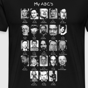 Serial Killer ABCs T-Shirts - Men's Premium T-Shirt