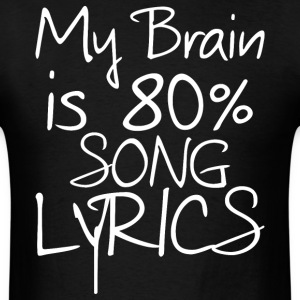 Song lyrics - Men's T-Shirt