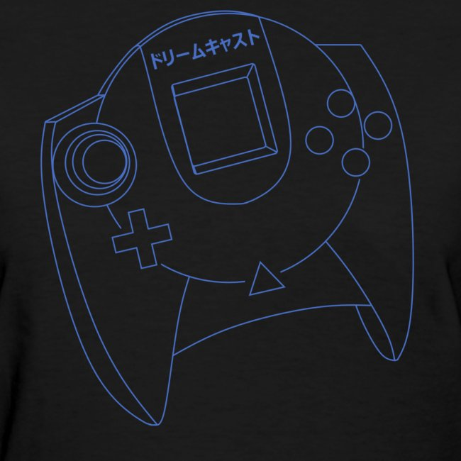 Dreamcast Controller Blueprints T-Shirt (Women's)