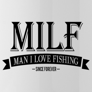 MILF / Man I Love Fishing / black Sportswear - Water Bottle