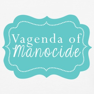 Vagenda of Manocide t-shirt - black & white raglan - Baseball T-Shirt