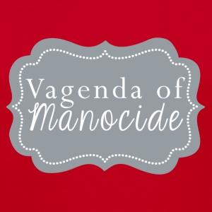 Vagenda of Manocide t-shirt - red - Women's V-Neck T-Shirt