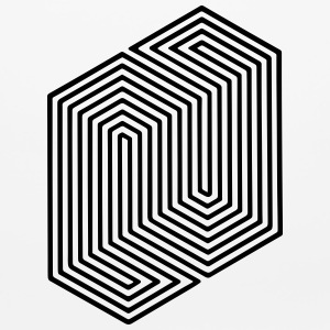 Optical Illusion (Impossible Minimal B & W Lines) Other - Mouse pad Horizontal