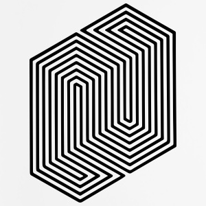 Optical Illusion (Impossible Minimal B & W Lines) Other - Mouse pad Vertical