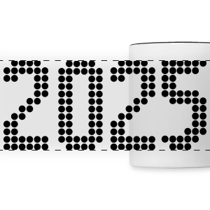 2025, Numbers, Year, Year Of Birth Mugs & Drinkware - Panoramic Mug