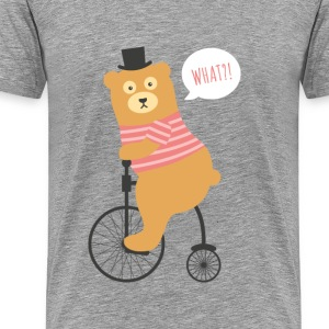 Bear Riding Bicycle - Men's Premium T-Shirt