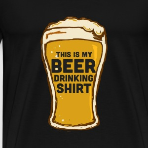 Beer Drinking Shirt - Men's Premium T-Shirt