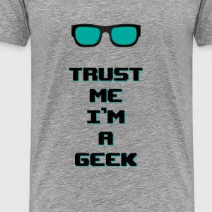I am a Geek - Men's Premium T-Shirt