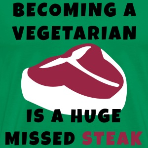 Becoming A Vegetarian T-Shirts - Men's Premium T-Shirt