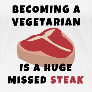 Becoming A Vegetarian T-Shirts - Women's Premium T-Shirt