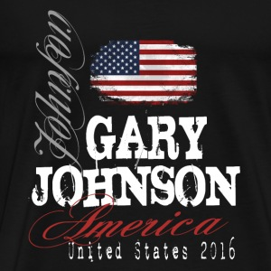 Gary Johnson for president 2016 T-Shirts - Men's Premium T-Shirt