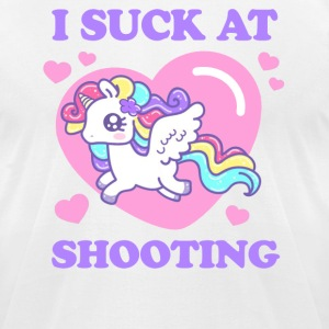 I SUCK AT SHOOTING! T-Shirts - Men's T-Shirt by American Apparel