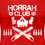 Design ~ Woman's Red Horrah Club T-Shirt