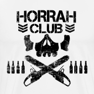 Design ~ Men's White Horrah Club T-Shirt