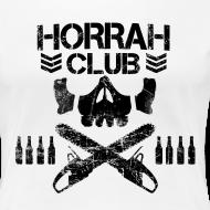 Design ~ Woman's White Horrah Club T-Shirt