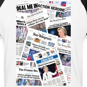 Hillary 2016 front pages T-Shirts - Baseball T-Shirt