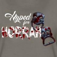 Design ~ Woman's Gray Horror Hype T-Shirt