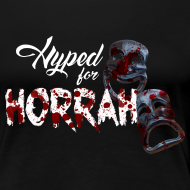 Design ~ Woman's Black Horror Hype T-Shirt