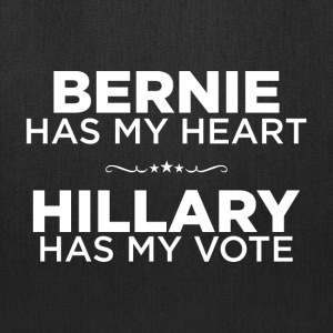 Bernie Has My Heart, Hillary Has My Vote shirt - Tote Bag