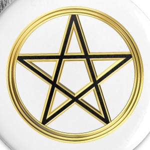 Golden pentagram Buttons - Large Buttons