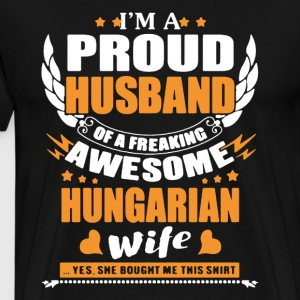 Hungarian Wife Awesome - Men's Premium T-Shirt