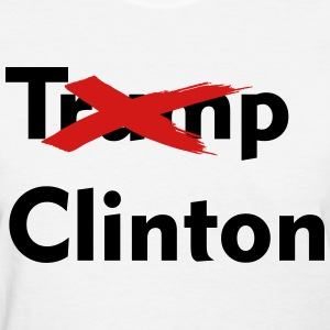 Trump Clinton Crossed Out - Women's T-Shirt