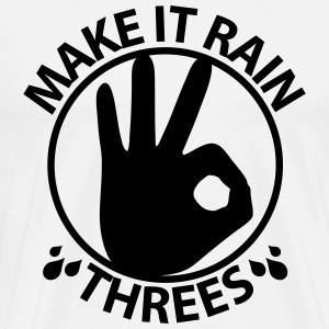 Make it rain threes T - Black Print - Men's Premium T-Shirt