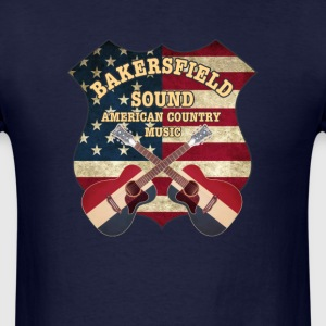 Bakersfield Sound shield - Men's T-Shirt