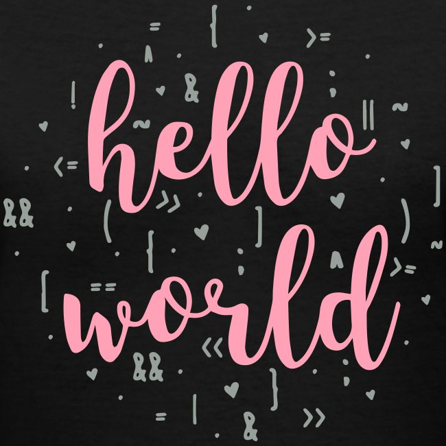 pink gray - hello world