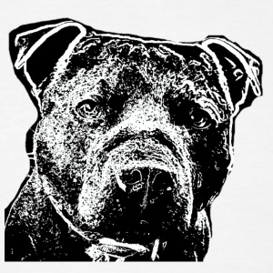 Serious Staffy Face - Men's T-Shirt