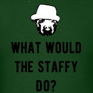 What would the staffy do? - Men's T-Shirt