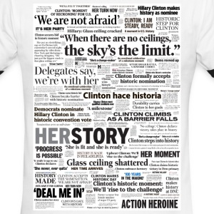 Hillary 2016 Historic Headlines Shirt - Men's Ringer T-Shirt