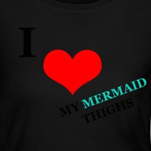 Womens Long Sleeve T-Shirt - Mermaid Thighs - Women's Long Sleeve Jersey T-Shirt