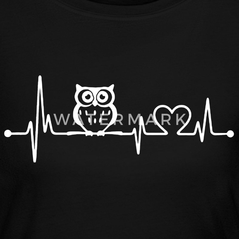 Owl Heartbeat Shirt - Women's Long Sleeve Jersey T-Shirt