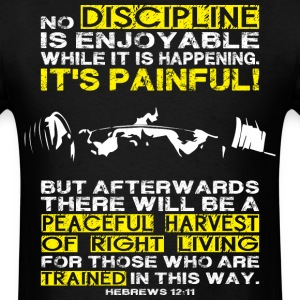 DISCIPLINE - Squat (Leg Day) Motivaiton T-Shirts - Men's T-Shirt