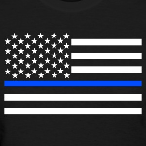 Thin Blue Line Flag Shirt - Women's T-Shirt