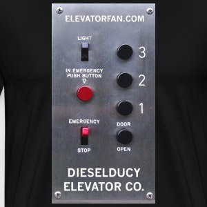 dieselducy elevator button T Shirt - Men's Premium T-Shirt