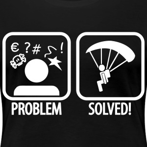 problem solved skydiving T-Shirts - Women's Premium T-Shirt