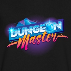 Dungeon Master & Dragons Outrun - Men's V-Neck T-Shirt by Canvas