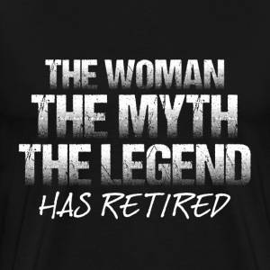 This woman has retired - Men's Premium T-Shirt