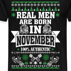 November - Real men are born in november tee - Men's Premium T-Shirt