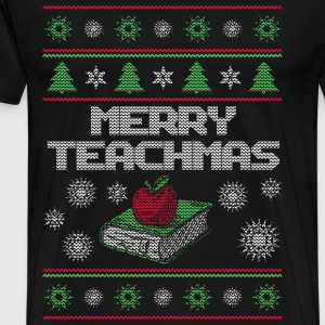 Teacher - Merry teachmas awesome sweater - Men's Premium T-Shirt